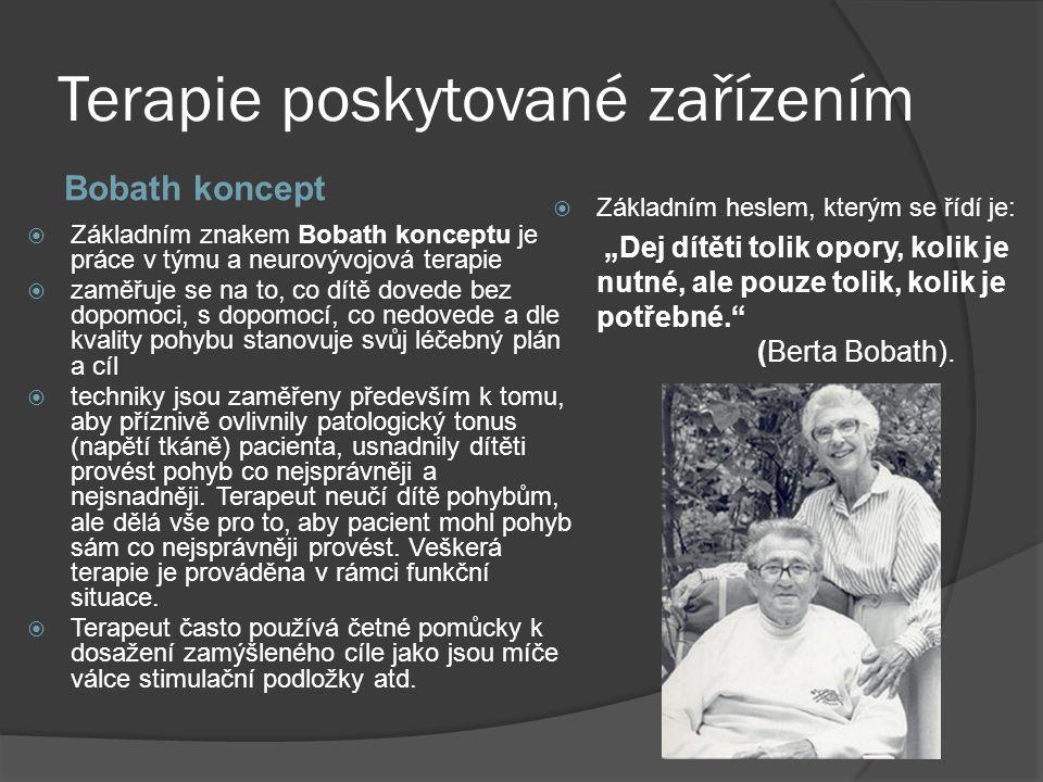 Terapie poskytované zařízením