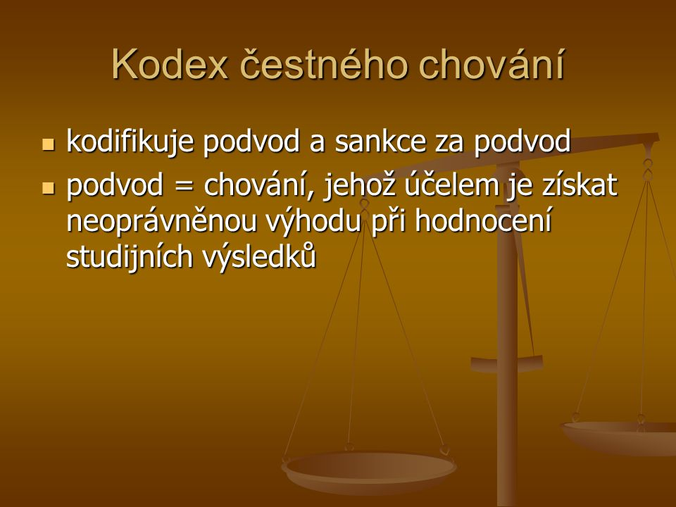 Kodex čestného chování