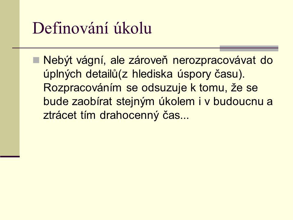 Definování úkolu