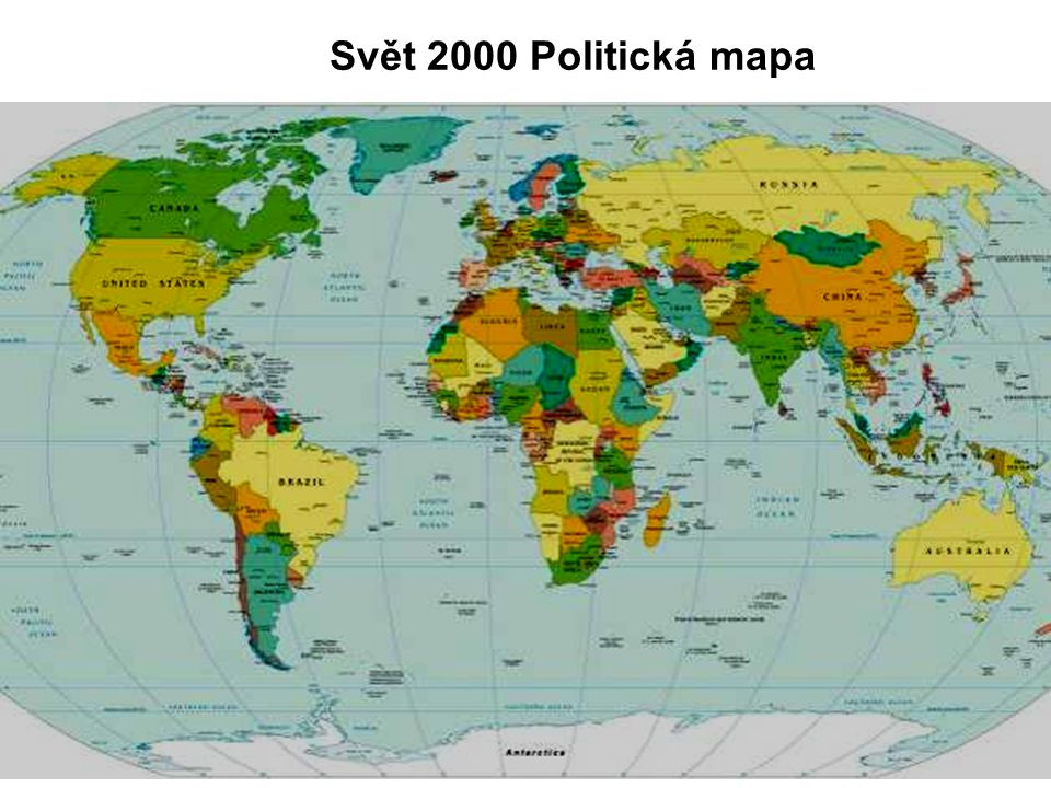 Svět 2000 Politická mapa