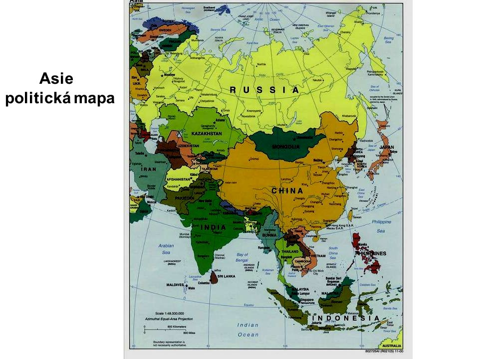 Asie politická mapa