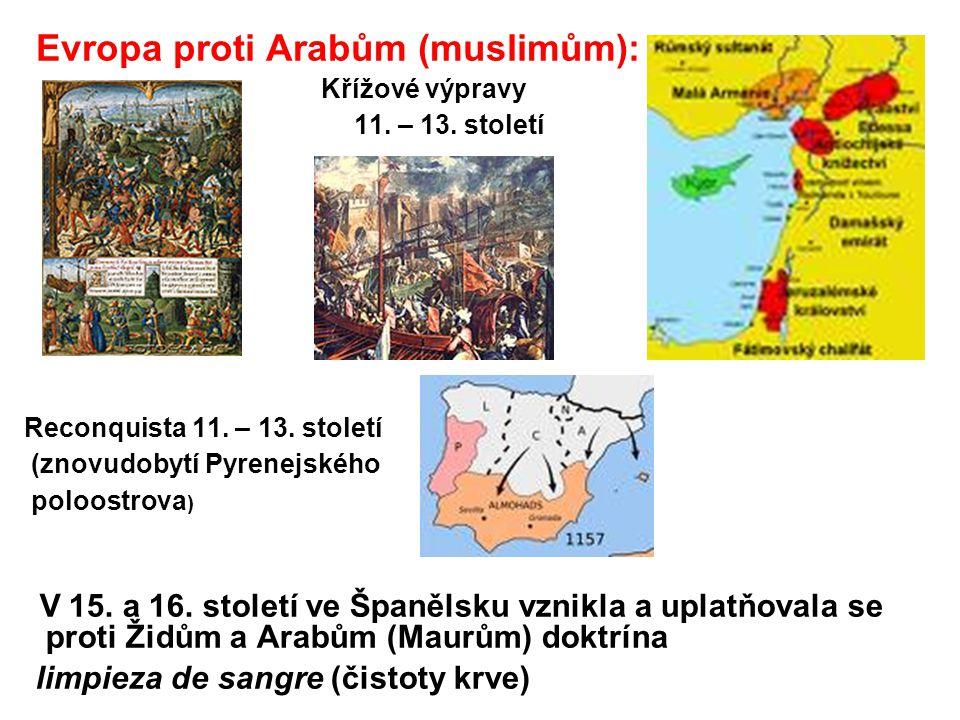 Evropa proti Arabům (muslimům):