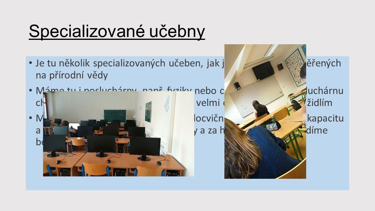 Specializované učebny