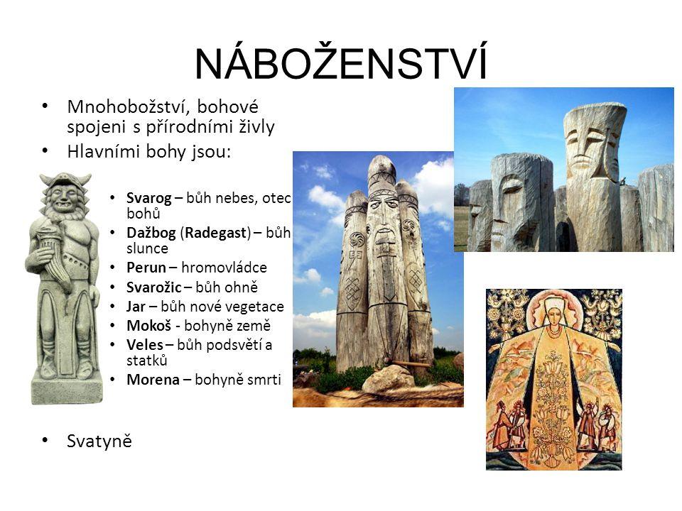 NÁBOŽENSTVÍ Mnohobožství, bohové spojeni s přírodními živly