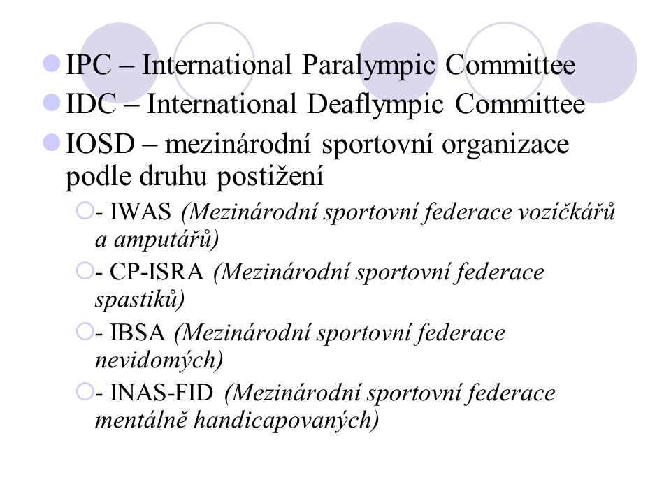 IPC – International Paralympic Committee