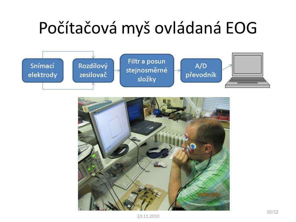 Počítačová myš ovládaná EOG