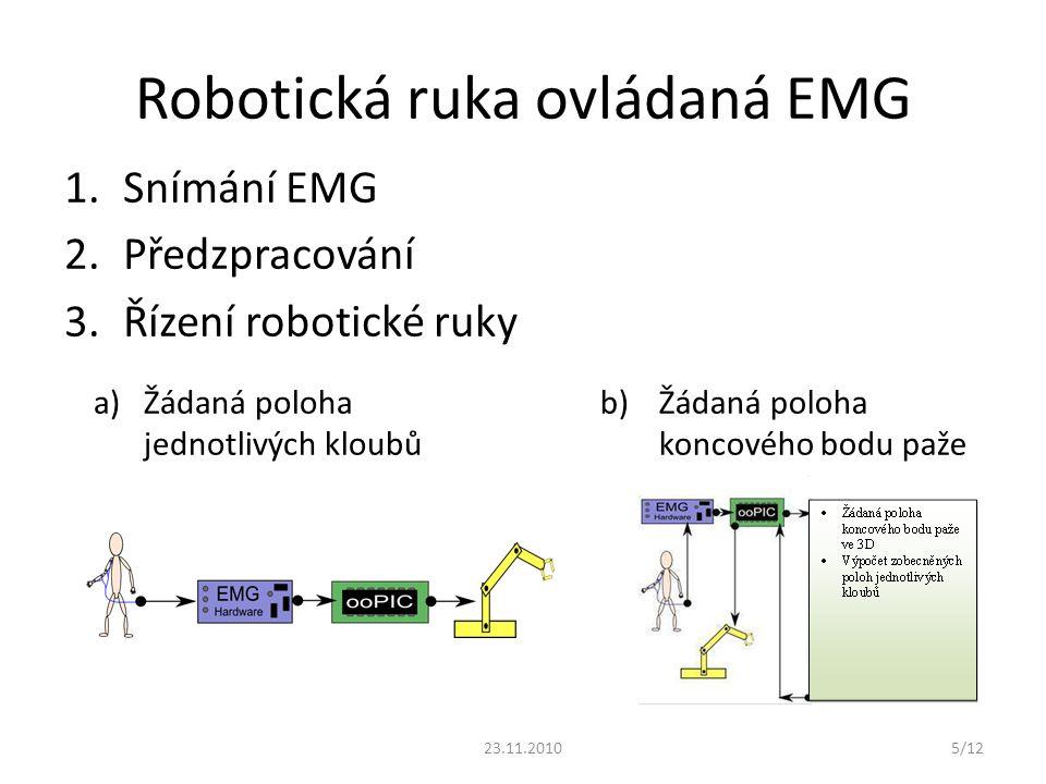 Robotická ruka ovládaná EMG