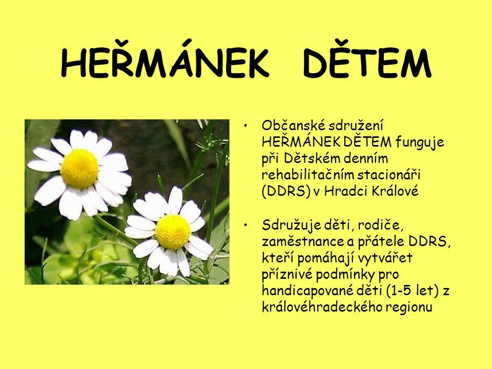 HEŘMÁNEK DĚTEM Občanské sdružení HEŘMÁNEK DĚTEM funguje při Dětském denním rehabilitačním stacionáři (DDRS) v Hradci Králové.