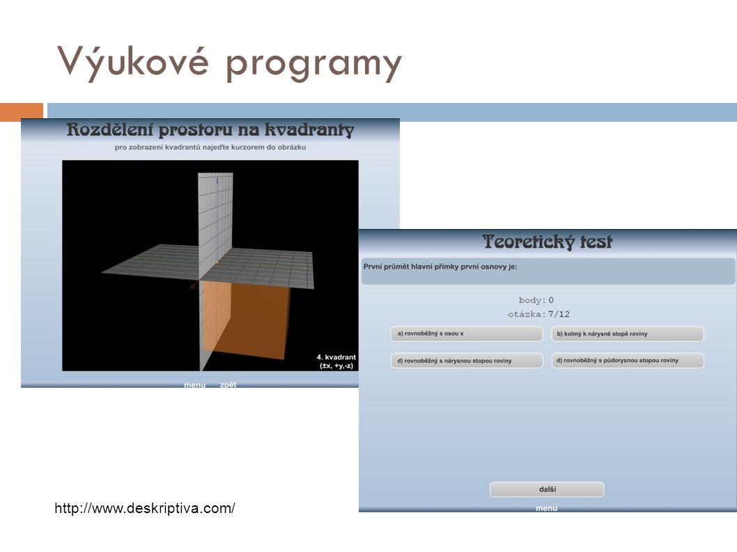 Výukové programy http://www.deskriptiva.com/