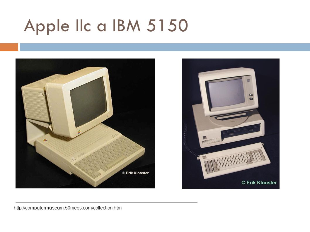 Apple IIc a IBM 5150 http://computermuseum.50megs.com/collection.htm