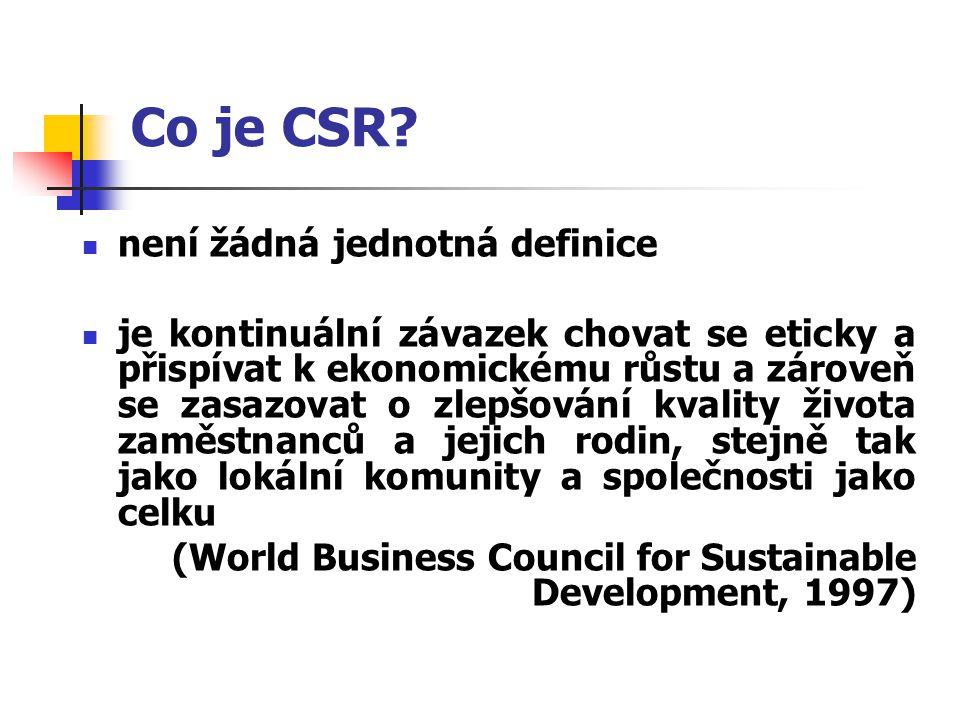 Co je CSR není žádná jednotná definice