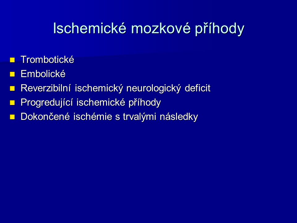 Ischemické mozkové příhody