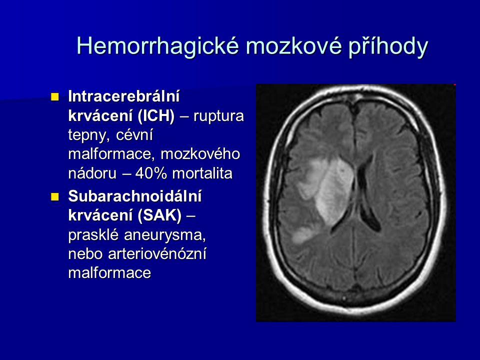 Hemorrhagické mozkové příhody