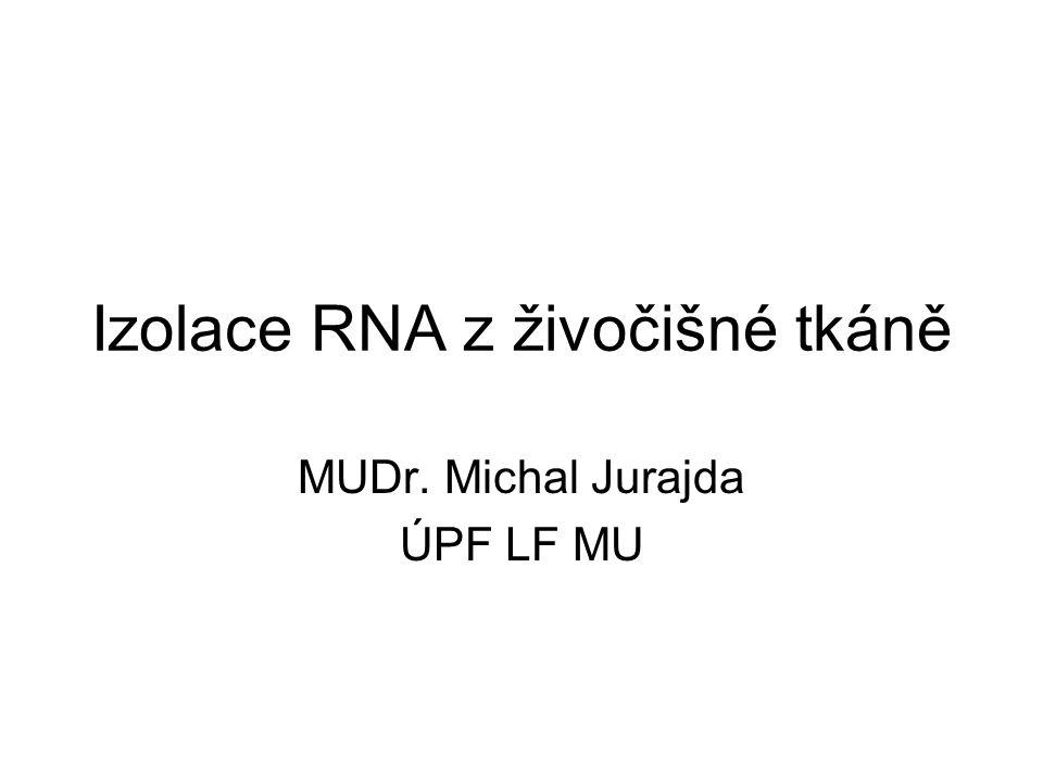 Izolace RNA z živočišné tkáně