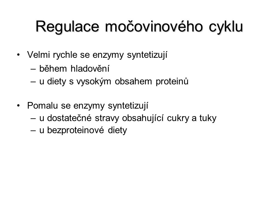 Regulace močovinového cyklu