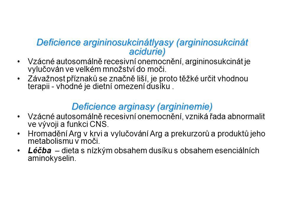Deficience argininosukcinátlyasy (argininosukcinát acidurie)