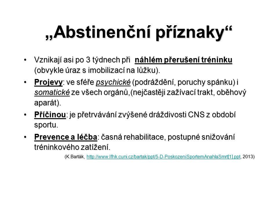 """""""Abstinenční příznaky"""
