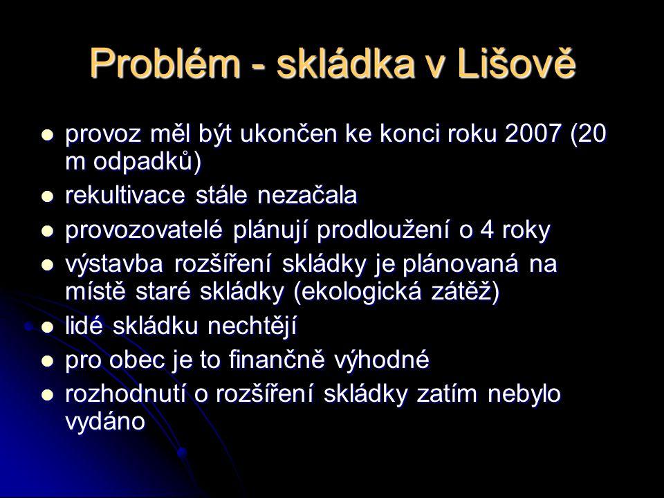 Problém - skládka v Lišově