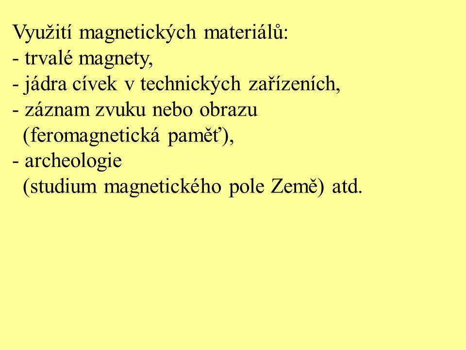 Využití magnetických materiálů: