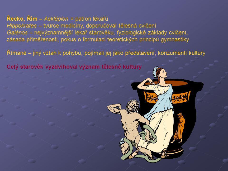 Řecko, Řím – Asklépion = patron lékařů