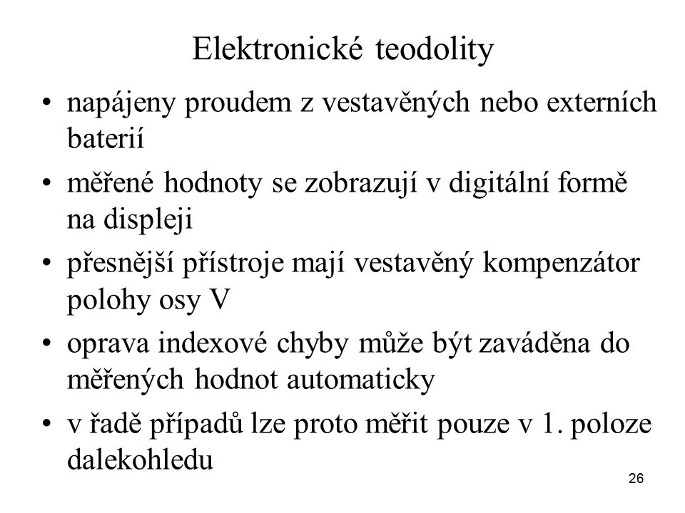 Elektronické teodolity