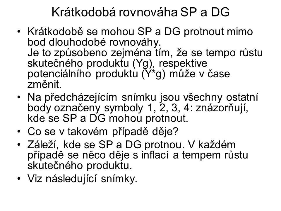 Krátkodobá rovnováha SP a DG