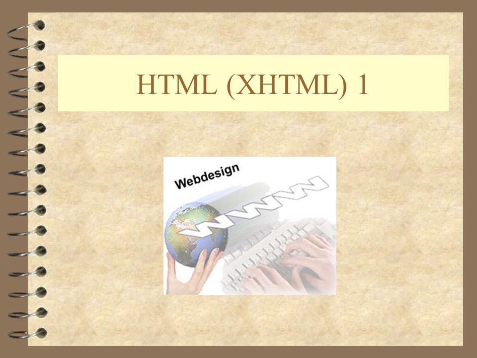 HTML (XHTML) 1
