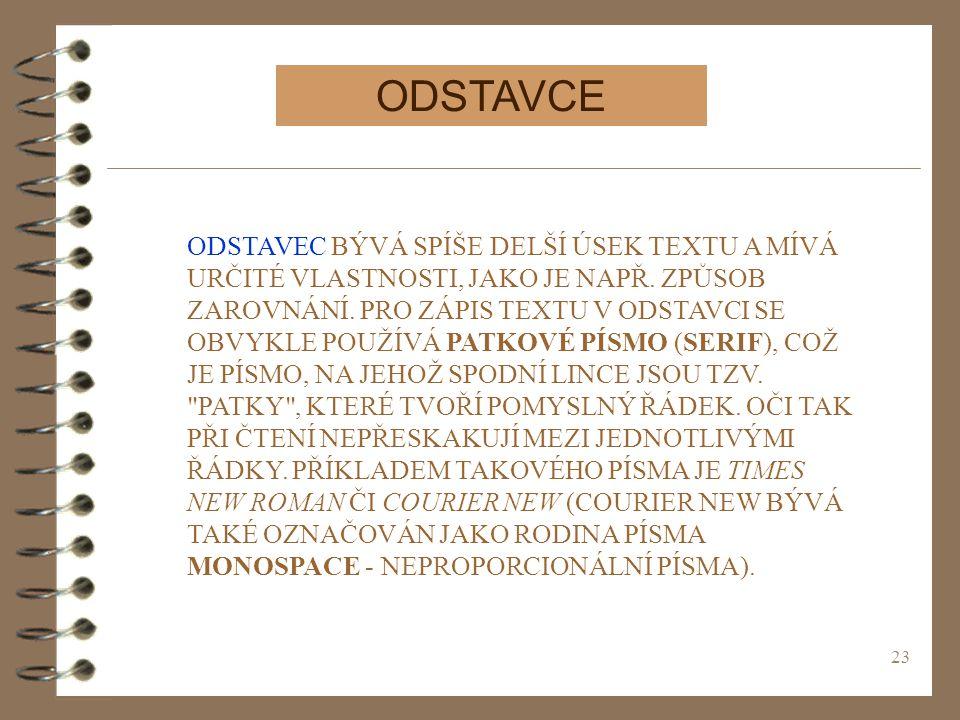 ODSTAVCE