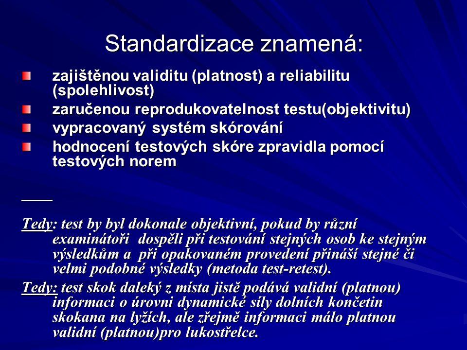 Standardizace znamená: