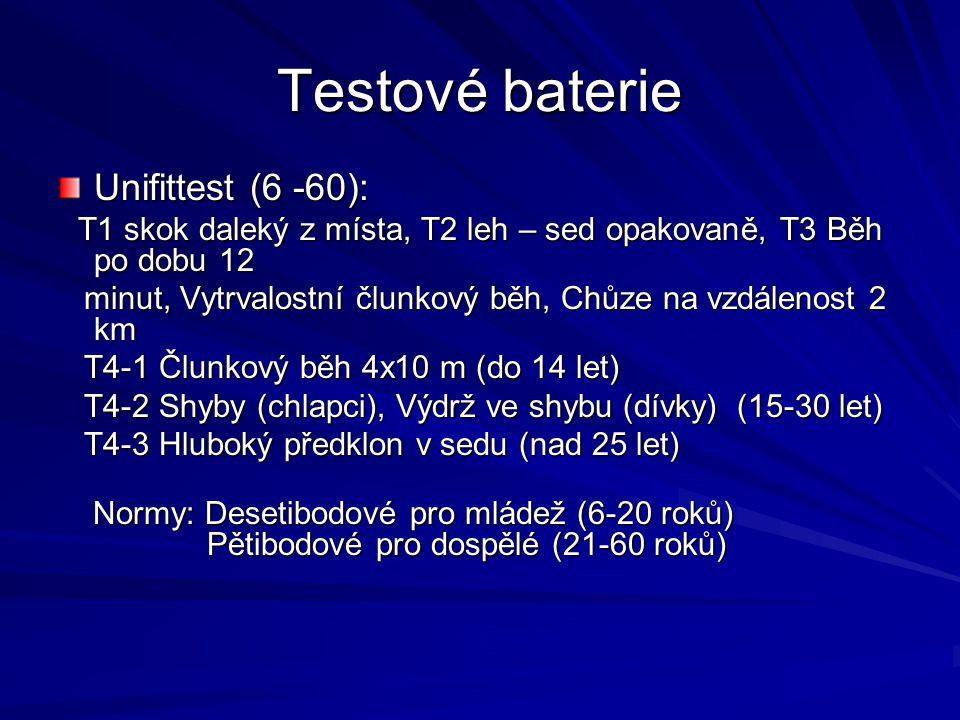 Testové baterie Unifittest (6 -60):