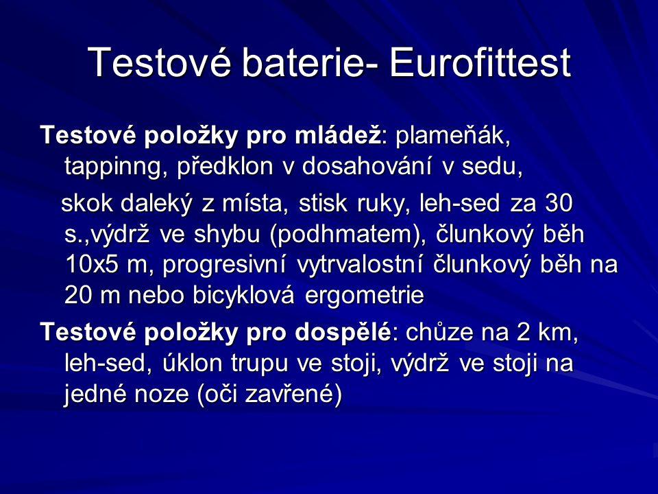 Testové baterie- Eurofittest