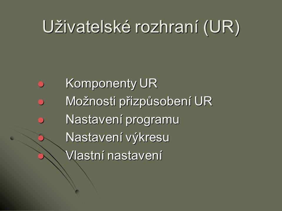 Uživatelské rozhraní (UR)