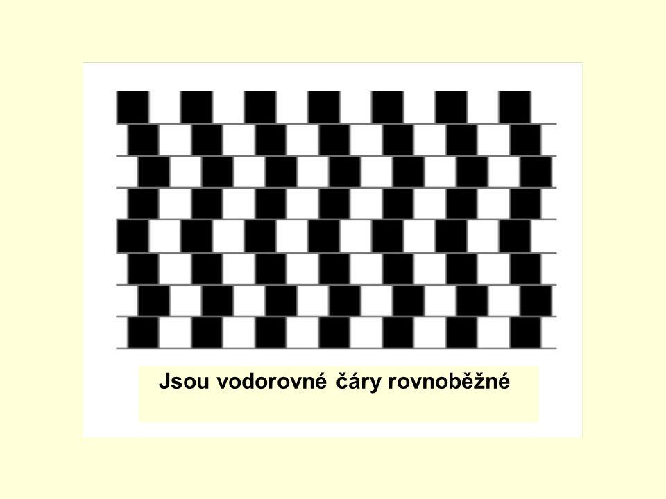 Jsou vodorovné čáry rovnoběžné