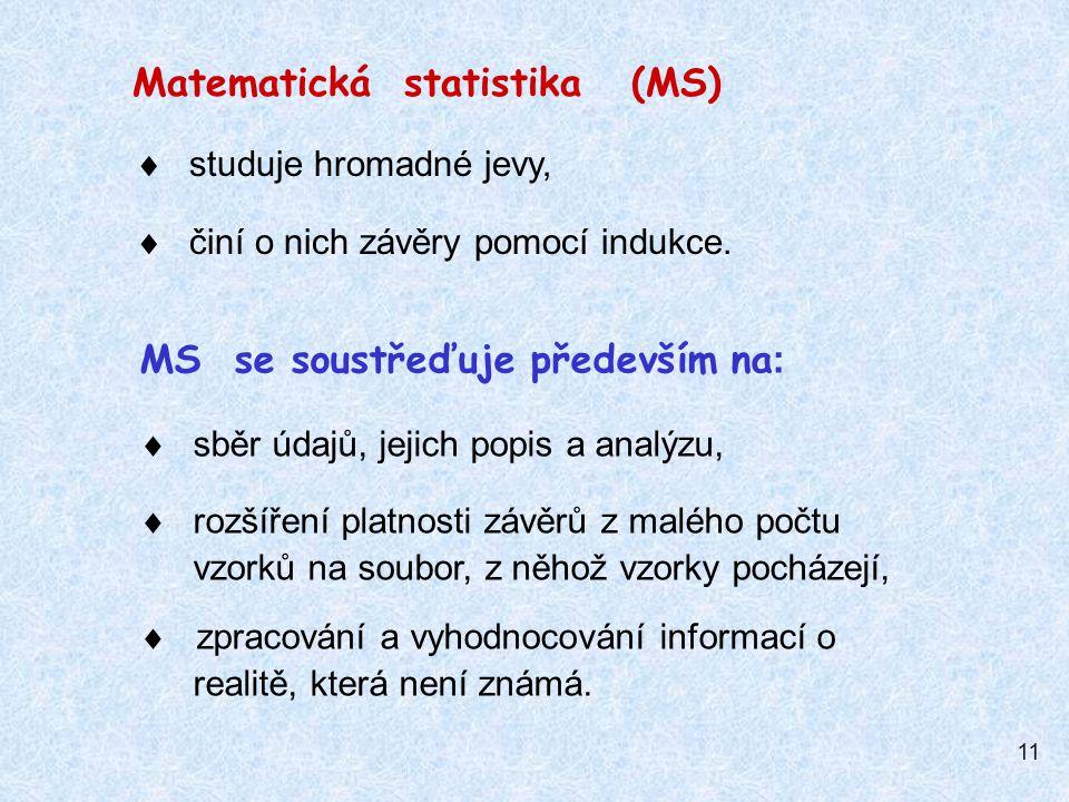 Matematická statistika (MS)