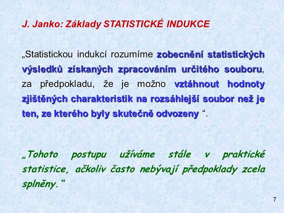 J. Janko: Základy STATISTICKÉ INDUKCE
