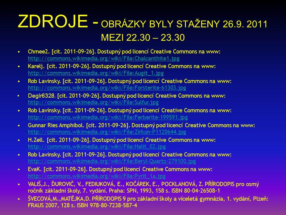 ZDROJE - OBRÁZKY BYLY STAŽENY 26.9. 2011 MEZI 22.30 – 23.30