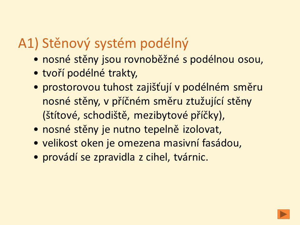 A1) Stěnový systém podélný