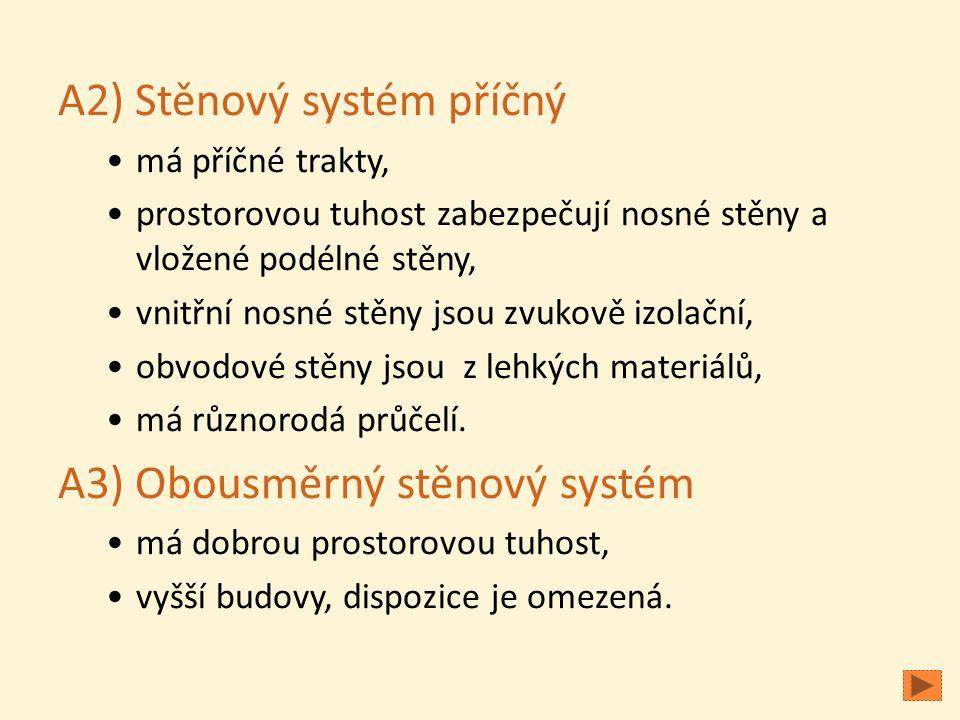 A2) Stěnový systém příčný