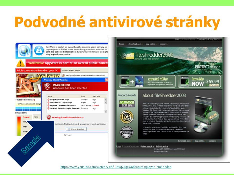 Podvodné antivirové stránky