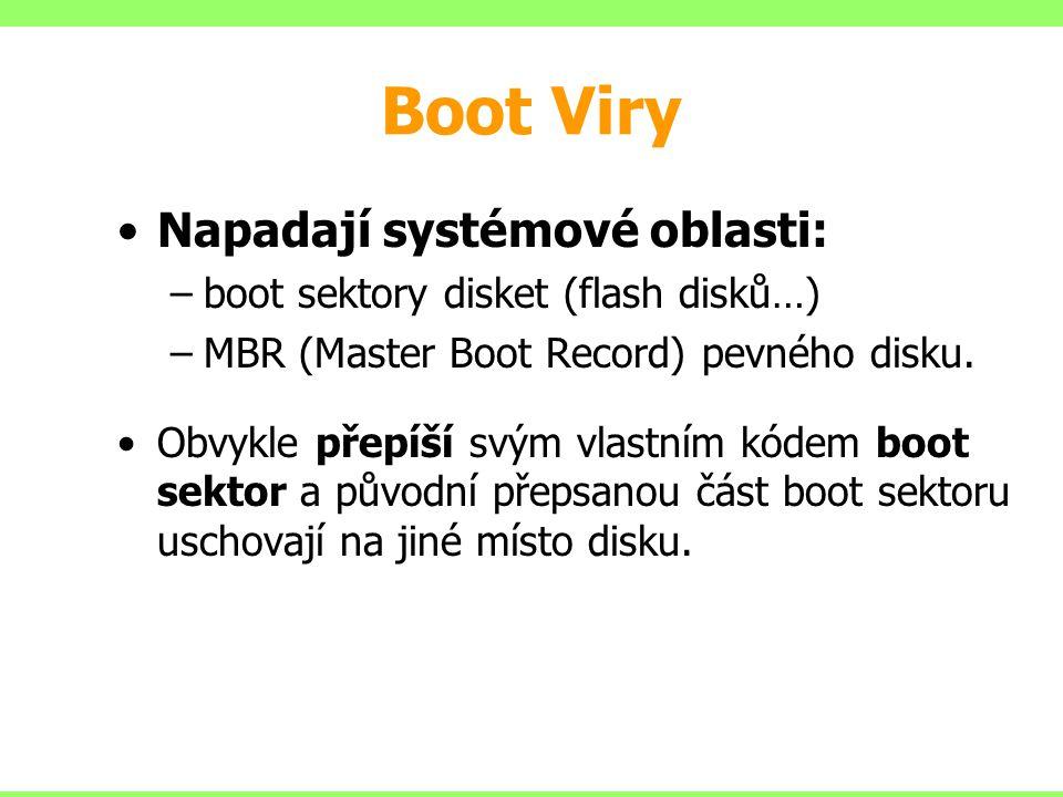 Boot Viry Napadají systémové oblasti: