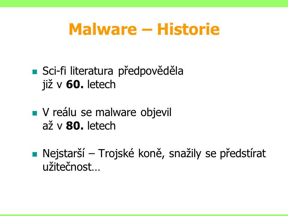 Malware – Historie Sci-fi literatura předpověděla již v 60. letech