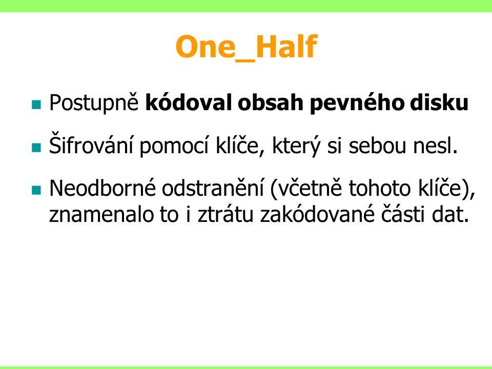 One_Half Postupně kódoval obsah pevného disku
