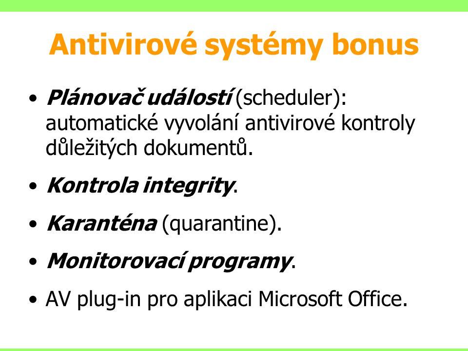 Antivirové systémy bonus