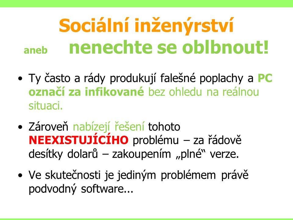 Sociální inženýrství aneb nenechte se oblbnout!