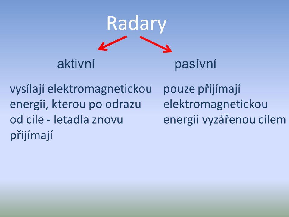 Radary aktivní pasívní