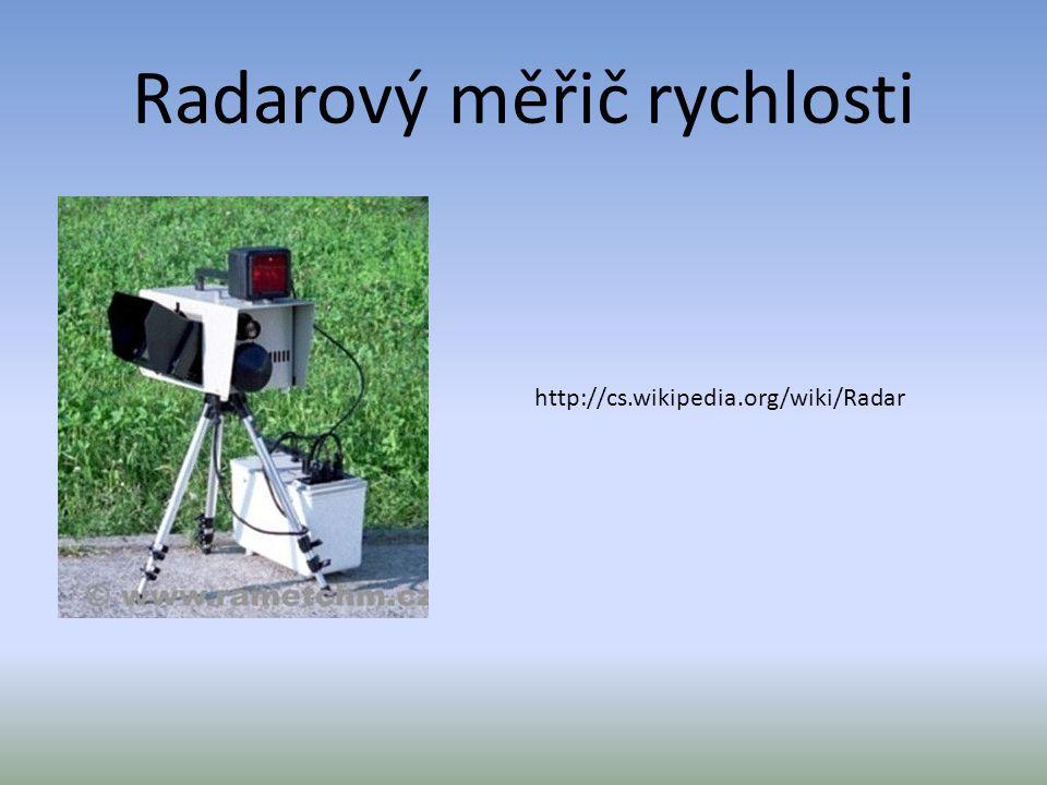 Radarový měřič rychlosti