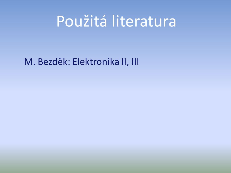 M. Bezděk: Elektronika II, III