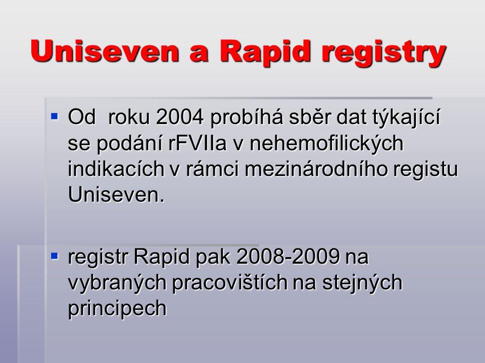 Uniseven a Rapid registry