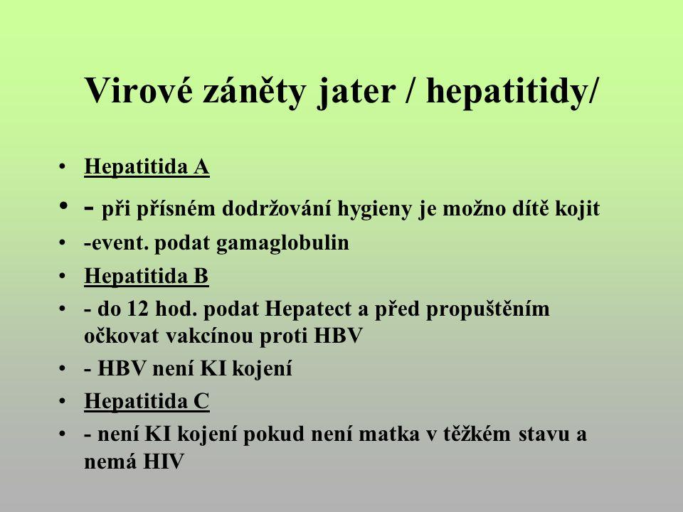 Virové záněty jater / hepatitidy/