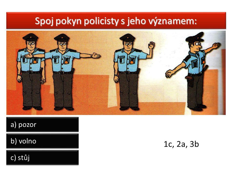 Spoj pokyn policisty s jeho významem: